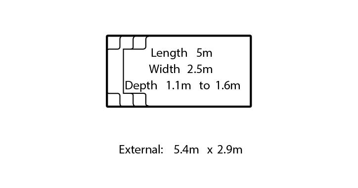 allure fibreglass swimming pool