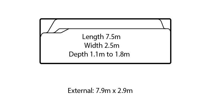 bellagio fibreglass swimming pool design