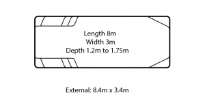 caprice fibreglass swimming pool design