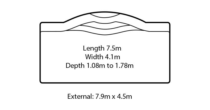 capricorn fibreglass swimming pool design