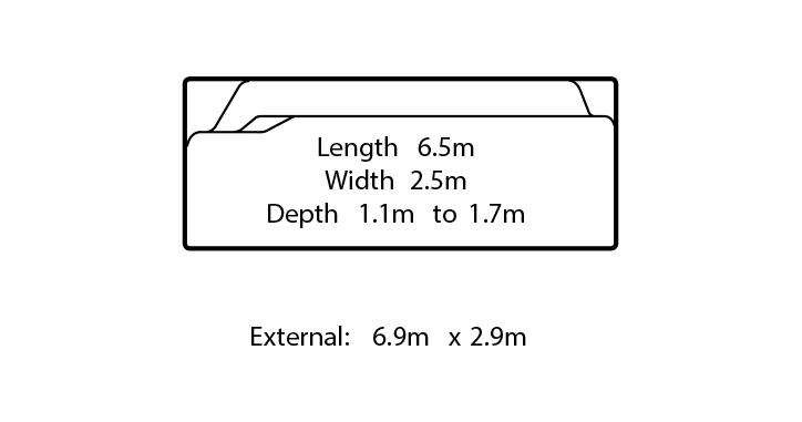 florentina fibreglass pool design