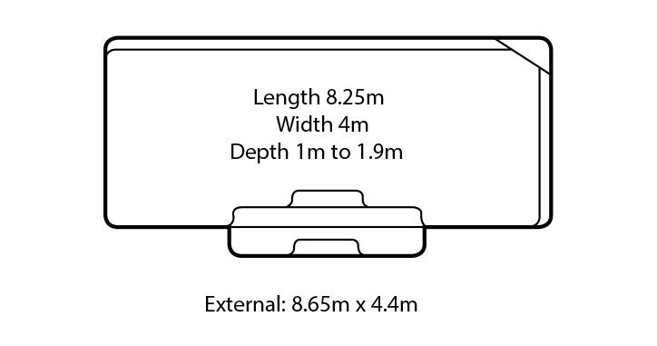 grandeur fibreglass swimming pool design