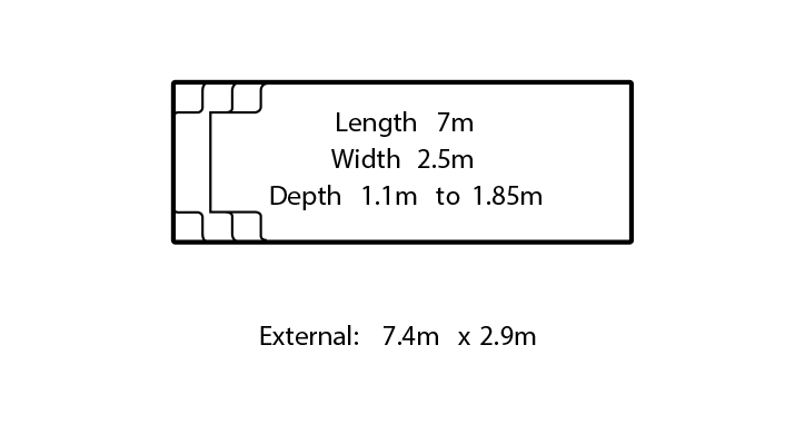 harmony fibreglass swimming pool