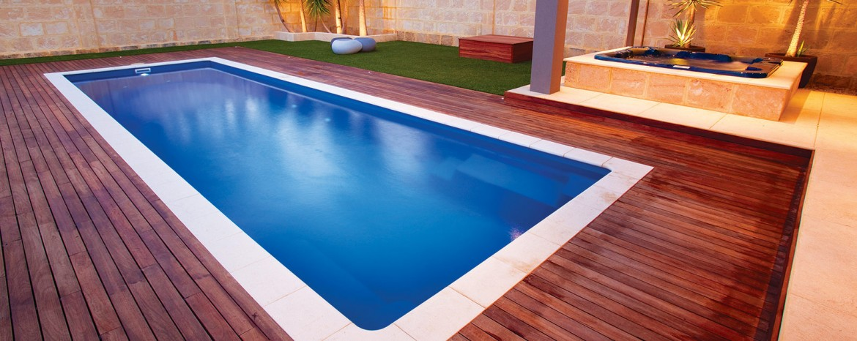 fibreglass lap pool
