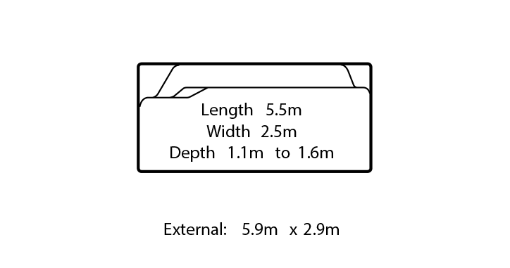 portofino fibreglass swimming pool design
