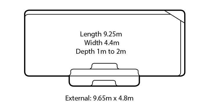 regal fibreglass swimming pool design