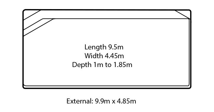 siena fibreglass swimming pool design
