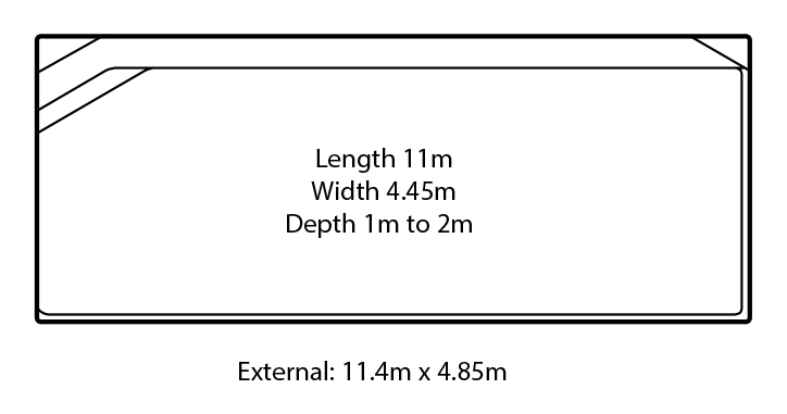 torino fibreglass swimming pool design