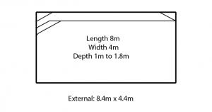 valentina fibreglass swimming pool design