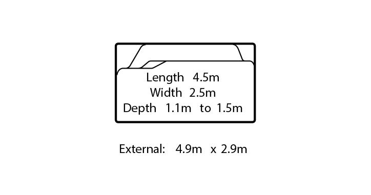 verona small fibreglass swimming pool