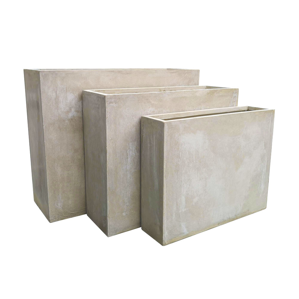 POOL GARDEN DESIGN Divider Trough limestone Pots