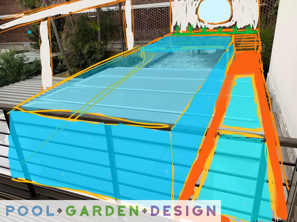 POOL GARDEN- DESIGN Darling Point Sketch